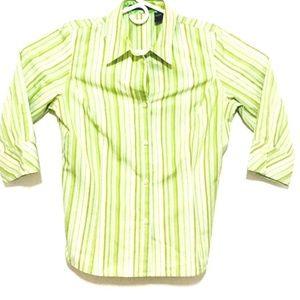Liz Claiborne Womens Long Sleeve Button-Up Size 10